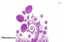 Lavender Flower Silhouette