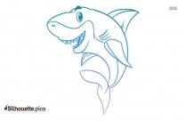 Cartoon Shark Drawing Silhouette