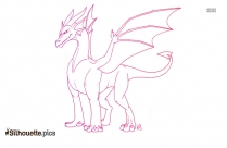 Easy Dragon Drawing Silhouette