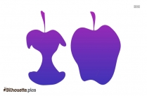 Banana Fruit Silhouette Clipart Image