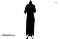 Edwardian Dresses Silhouette Clipart