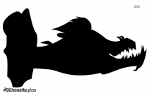 Eel Silhouette Illustration