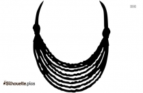 Egyptian Necklace Silhouette Art