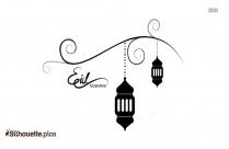 Eid Mubarak Islamic Silhouette