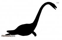 Elasmosaurus Silhouette Art