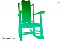 Plastic Dinning Chair Silhouette Clipart