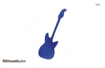Electric Bass Guitar Silhouette