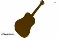Playing Guitar Silhouette Illustration