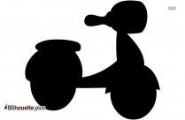 Electric Motorbike Clip Art Silhouette