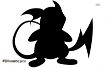 Electric Pokemon Species Raichu Clip Art Silhouette