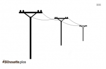 Electric Power Lines Silhouette