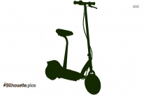 Electric Scooter Silhouette Image