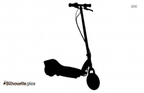 Vintage Electric Scooter Silhouette Vector And Graphics