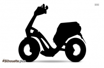 Black Scooter Silhouette Image