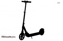 Electric Scooter Silhouette Clip Art