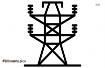 Electric Tower Vector Silhouette Background