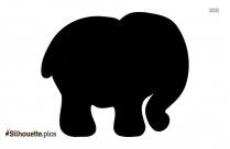 Cartoon Elephant Mom And Baby Silhouette Clip Art
