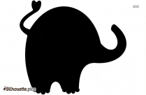Indian Elephant Silhouette Clip Art