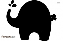 Free Baby Elephant Silhouette