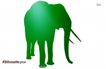 Cute Girl Elephant Silhouette Image And Vector