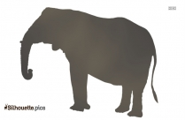 Elephant Drawing Silhouette Free Vector Art