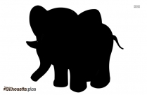 Free Elephant In Love Silhouette