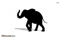 African Elephant Vector Silhouette