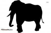 Baby Elephant Symbol Silhouette