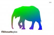 Elephant Silhouette Outline
