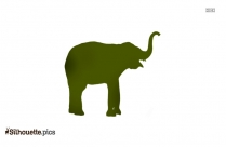 Black Mother And Baby Elephant Silhouette Image