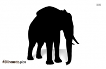 Elephant Standing Silhouette Clip Art