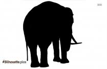 Dumbo Elephant Silhouette Clipart