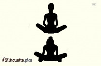Elevated Butterfly Pose Yoga Blocks Silhouette