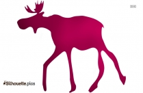 Cartoon Reindeer Silhouette Drawing