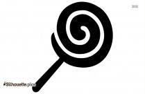 Emoji Lollipop Stick Silhouette