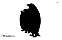 Emperor Penguin Standing Clipart Image Silhouette
