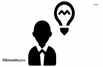 Employee Thinking Logo Silhouette For Download
