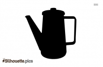Empty Coffee Pot Silhouette Clip Art