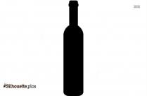 Glass Bottle Silhouette, Vector Art