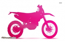 Enduro Bloms MX Racing Bike Silhouette