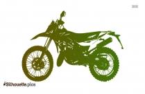 Enduro Motorcycle Silhouette