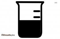 Erlenmeyer Flask Silhouette Art