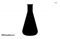 Erlenmeyer Flask Silhouette, Vector Art