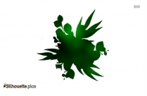 Eucalyptus Leaf Vector Silhouette