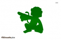 Funny Jumping Monkey Silhouette Art
