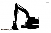Hydraulic Excavator Silhouette