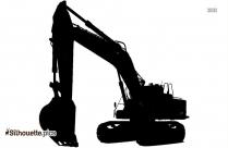 Black Excavator Silhouette Image