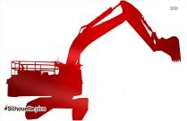 Bulldozer Silhouette Picture