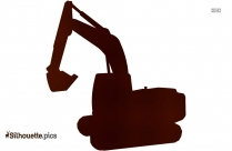 Excavator Silhouette Image, Construction Vehicle Clipart