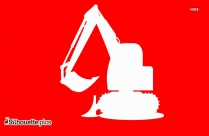 Excavator Silhouette Vector And Graphics